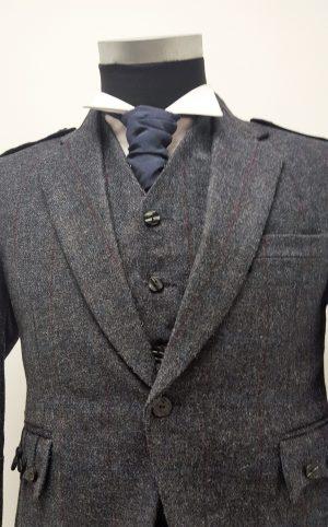 Navy Grey Crail Jacket and vest