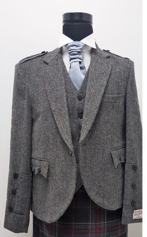 Harris tweed laxdale crail jacket vest