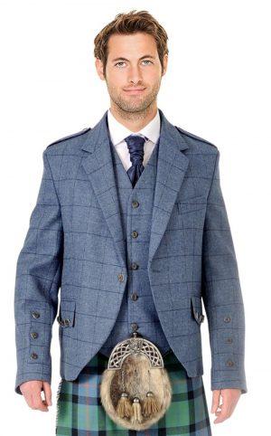Blue tweed jacket