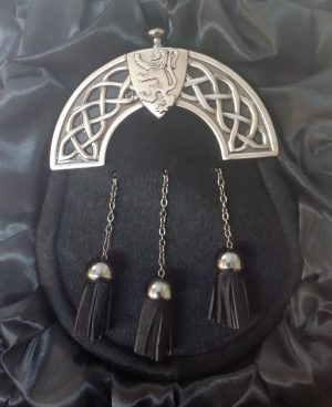 New Antique Celtic Shield Black Bovine Sporran