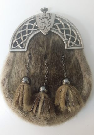 New Antique Celtic Shield Sealskin Sporran