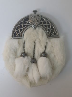 New Antique Celtic Shield White Rabbit Sporran