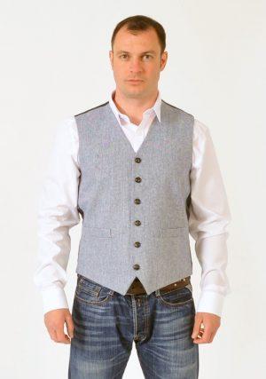 Grey Tweed Waistcoat